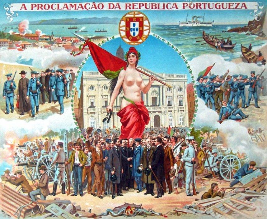 ポルトガルの共和制革命を描いた寓意画